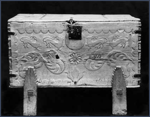 Spanish chest. Courtesy Palace of the Governors Photo Archives (NMHM/DCA), 065701.