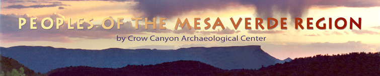 Peoples of the Mease Verde Region title page banner