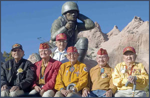 Navajo Code Talker reunion. Photo by Donovan Quintero; copyright Navajo Times.