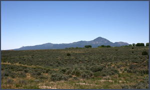 Ute Mountain and sage plain. Photo by Joyce Alexander; copyright Crow Canyon Archaeological Center.