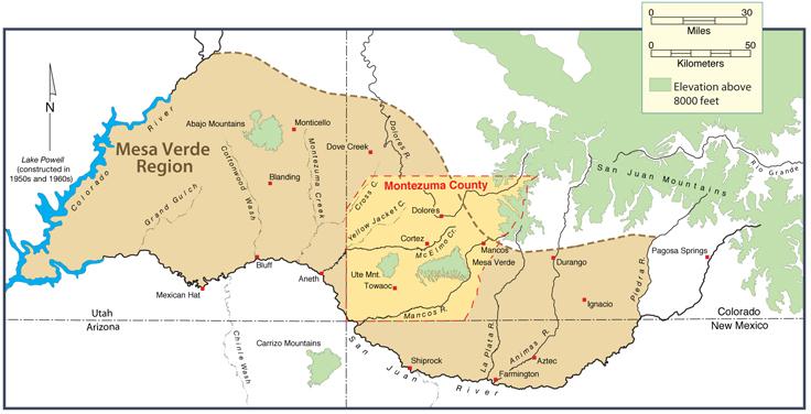 Map of Montezuma County | Peoples of Mesa Verde