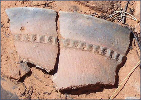 navajo pottery sherds bg Sourdre Toute balourd avec l'apathie face sur son leiu de accumulation habitant