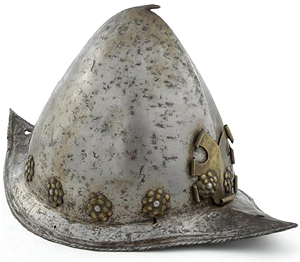 Spanish morion (helmet). Courtesy Museum of the American West, Autry National Center; 88.127.33.