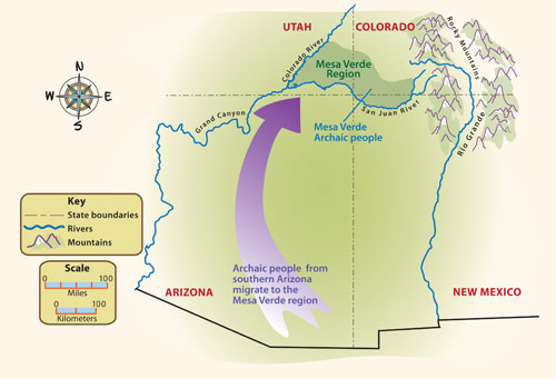 Archaic Map | Pueblo Indian History for Kids