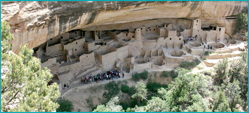 Cliff dwelling at Mesa Verde National Park.