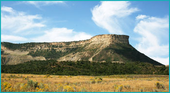 Mesa Verde in southwestern Colorado.