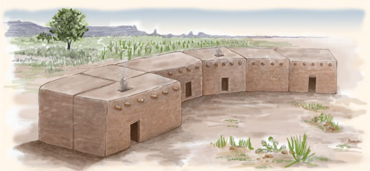 Glossary pueblo indian history for kids for Pueblo home builders