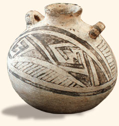 Example of a pottery vessel with slip.