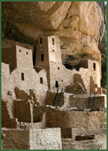 An archaeological site in the Mesa Verde region.