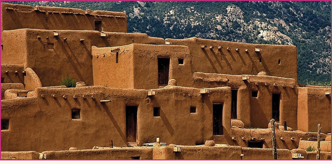 Taos Pueblo in New Mexico.