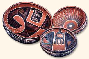Pueblo pottery made during the Post-Migration period.