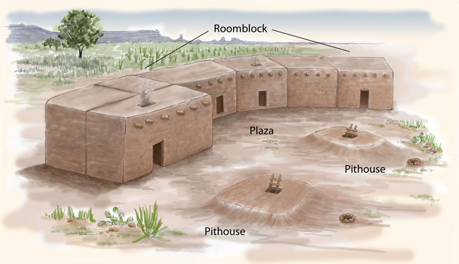 Pueblo i houses pueblo indian history for kids for Pueblo home builders