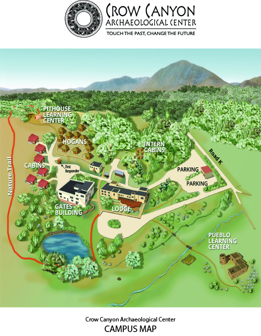 Map of the Crow Canyon campus