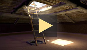 animation showing construction of great kiva at Dillard site