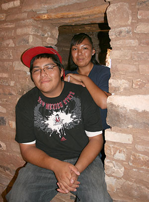 Photo of high school students from Santa Ana Pueblo.