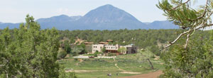 View of the Crow Canyon campus and Ute Mountain