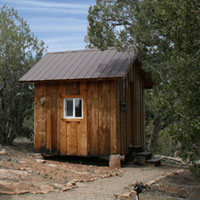 Photo of intern cabin at Crow Canyon.