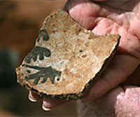 Painted pottery sherd