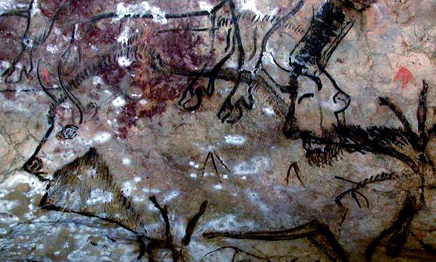 Niaux, France Bison depicted cave painting